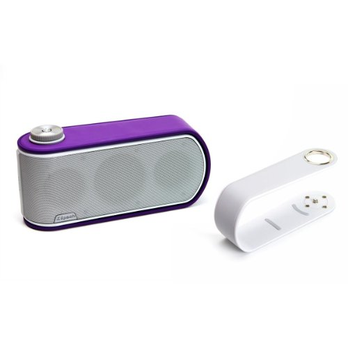 Klipsch Gig Portable Wireless Music System With Aptx Bluetooth And Additional Color Band (White Speaker With White And Purple Color Bands)