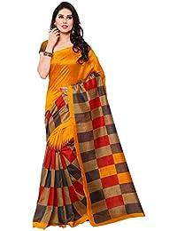 Buyonn Women'S Cotton Silk Saree With Blouse Piece (Ofs1723-T2_Multi-Coloured)