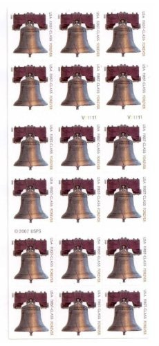 Forever Stamps Liberty Bell ATM Sheetlet of 18 Stamps