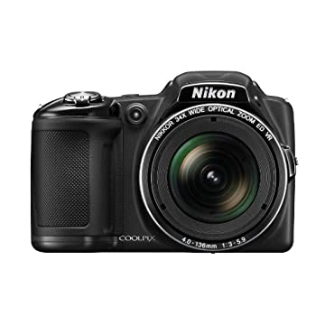 Nikon Coolpix L830 16MP CMOS Digital Camera with 34x Zoom and Full 1080p HD Video (Black)