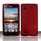 Red Soft Skin Silicone Gel Case Cover For LG Optimus 4X HD P880