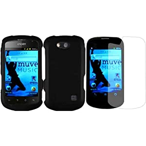 For ZTE Groove X501 Hard Cover Case Black+LCD Screen Protector