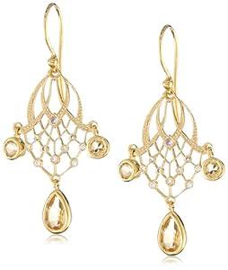 Eddera Jewelry Khaleesi Yellow Topaz Earrings
