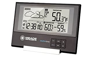 Meade TE346W Slim Line Personal Weather Station with Atomic Clock