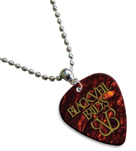 Black Veil Brides Hot Foil Chitarra Pick Collana Necklace Plettro Plettri ( Tortoise Shell )