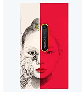 PRINTSWAG GIRL WITH EAGLE Designer Back Cover Case for NOKIA LUMIA 920