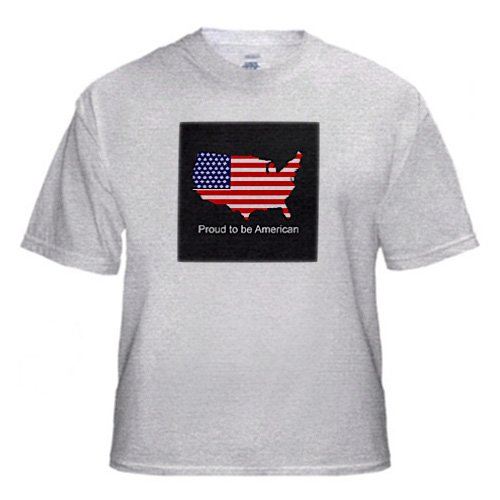 Proud to be American - Adult Birch-Gray-T-Shirt 3XL