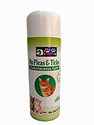 JiMMy No Fleas & Ticks -Powder- For Cats & Kittens-150 GM Pack-100% Natural -Based on Diatomaceous Earth & Neem