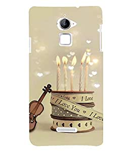 I Love you candles 3D Hard Polycarbonate Designer Back Case Cover for Coolpad Note 3 Lite :: Coolpad Note 3 Lite Dual SIM