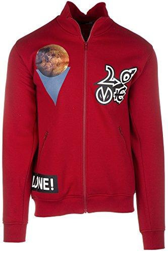 Love Moschino felpa con zip uomo rosso EU M (UK 38) M 6 488 01 M 3685 O9