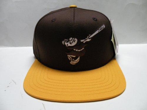 fbd06b01203 MLB San Diego Padres Logo 2 Tone Retro Snapback Cap Old School ...