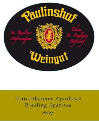 2012 Paulinshof Trittenheimer Apotheke Spaetlese 750 Ml