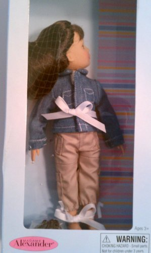 "Madame Alexander Take Along Friend 9"" Doll Brunette with Denim Jacket - 1"