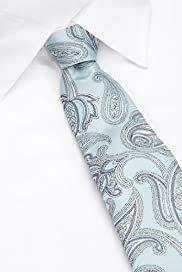 Autograph Pure Silk Embroidered Paisley Tie