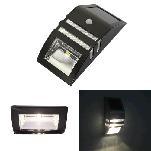 Dbpower® Stainless Steel + Abs Solar Motion Sensor Super Bright Led Wall Light For Pathway / Staircase / Step / Garden / Yard / Wall / Drive Way