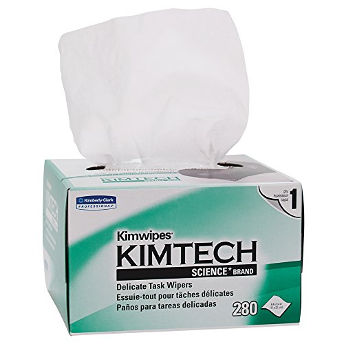Kimwipes Delicate Task Kimtech Science Wipers (34133), White, 1-PLY, 15 Pop-Up Boxes / Case, 196 Sheets / Box, 2,940 Sheets / Case