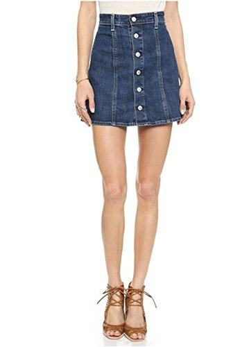 Dixperfect® Women's Denim A-line button-through skirt (S)