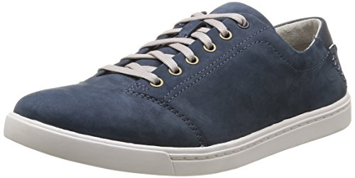 Clarks Newood Street - Zapatos de Cordones de cuero hombre, Azul (Denim Blue Nbk), 46