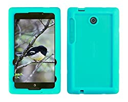 Bobj for ASUS K00X, MeMO Pad 7 LTE ME375CL - BobjGear Protective Tablet Cover (Terrific Turquoise)