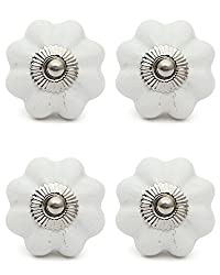 Knobs & Hooks fbk-313 Ceramic Cabinet Knob; White; (Set of 4 pieces)