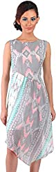 Mabyn Women's A-Line Dress (SSSSD07 _M, Grey, M)