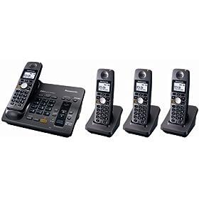 Panasonic Electronics - Panasonic KX-TG6074B 5.8 GHz Digital Cordless Answering SystemKX-TG6074B Redtag