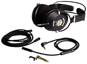 Motorheadphones Motorizer Over-Ear Turnable DJ Style Headphones with In-Line Mic and Remote - Black