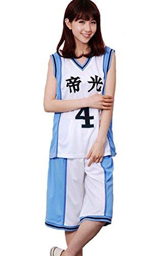 Kurokos Basketball Zeugnis TadashiJuro Kaiser Licht Junior-High-School-Basketball-Club einheitliche obere und untere Reihe Cosplay [M size]