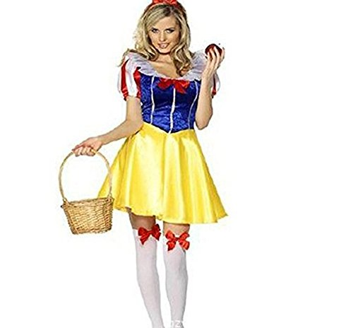 Fandecie Women's Halloween Cosplay Costume Alice in Wonderland Maid Dress-Up