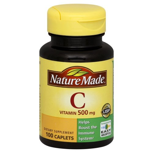 Nature Made Vitamin C 500 mg Caps, 100 ct (Pack of 2) (Vitamin Gel Caps compare prices)