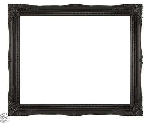 EXTRA LARGE HIGH GLOSS BLACK Shabby Chic Antique Style Rectangular Wall MIRROR complete with Premium Quality Pilkington's Glass - Overall Size: 30inches x 42inches (77cm x 107cm)