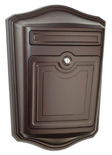 Architectural-Mailboxes-2540RZ-Maison-Locking-Wall-Mount-Mailbox-Oil-Rubbed-Bronze