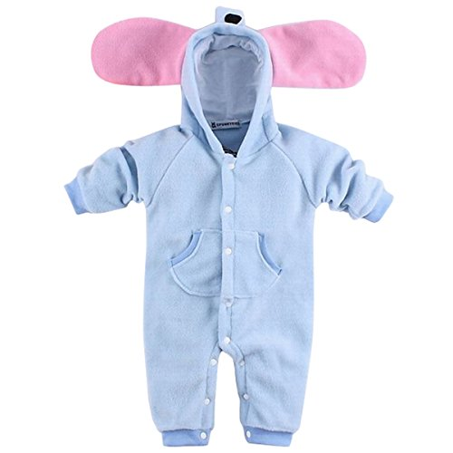 [Infant Baby Thiner Autumn Elephant Pattern Romper Sets Bunting Jmpsuit Size 70] (Elephant Bunting Costumes)