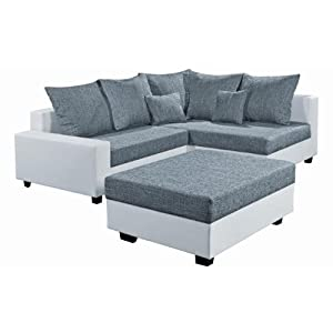 bewertungen black red white ecksofa eckgarnitur sofa stella weiss weiss grau sofas test. Black Bedroom Furniture Sets. Home Design Ideas