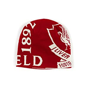 Boys Red Reversible Beanie from Liverpool FC