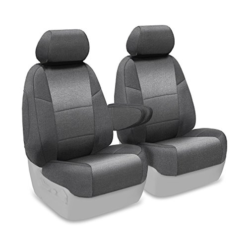Coverking Custom Fit Front 50/50 Bucket Seat Cover For Select Dodge Grand Caravan Models - Velour (Gray) front-1061464