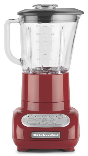KitchenAid KSB565ER 5-Speed Glass Jar Blender, Empire Red