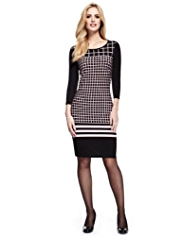 M&S Collection Grid Checked Tunic Dress