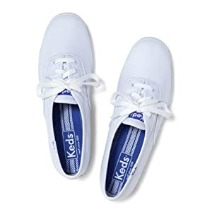 Keds Women's Champion White Canvas Shoes Wide Width women's 8.5