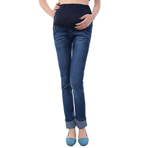 Hee Grand Women Maternity Fashion Pregnancy Slim Pants Jeans