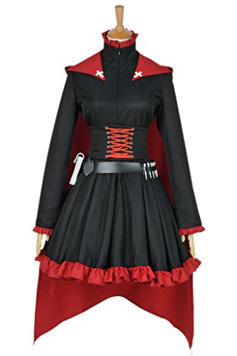 CosplayNow RWBY Ruby Rose Cosplay Costume Gothic Dress
