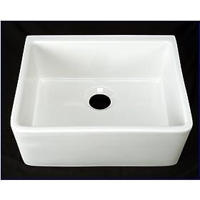 Kitchen Farmhouse Apron Front Sink - White Single 24