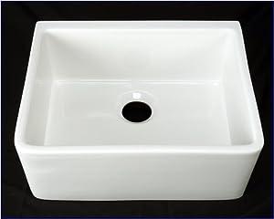 24 Apron Front Sink : ... Apron Front Sink - White Single 24 - Single Bowl Sinks - Amazon.com