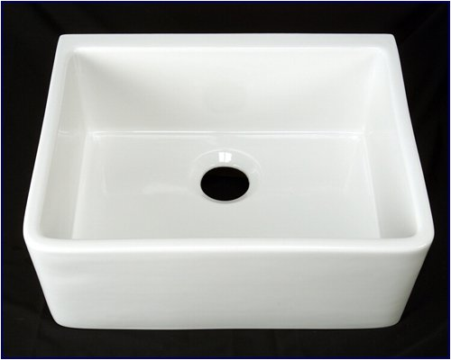 Kitchen Farmhouse Apron Front Sink - White Single 24