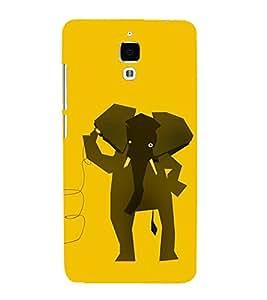 EPICCASE hello elephant Mobile Back Case Cover For Xiaomi Mi4 (Designer Case)