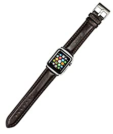 buy Apple Watch Band - Belting Leather Watch Band - Brown - Fits 42Mm Apple Watch [Black Adapters]