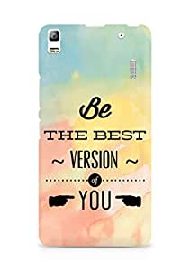 Amez Be the Best version of Yourself Back Cover For Lenovo K3 Note