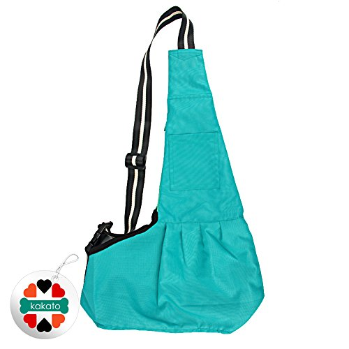 New Pet Sling-style carrier Dog Cat sling Bag -Green Large Size