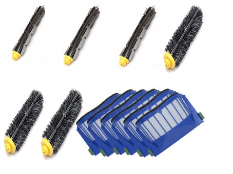 Free Shipping Accessory Kit for Irobot Roomba 585 595 Pet Series - Includes 6pc Filter, 3pc Bristle Brush and 3pc Beater Brush (Roomba Brush Pet compare prices)