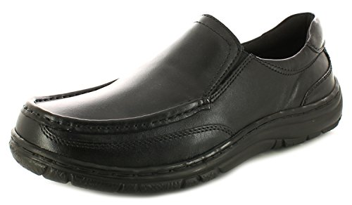 new-mens-gents-black-hush-puppies-kenny-slip-ons-casual-shoes-black-uk-size-8